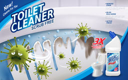Toilet cleaner ads Royalty Free Stock Photos