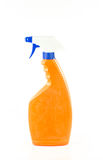 Toilet cleaner bottle isolated on white Stock Photo
