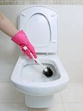 Toilet cleaning Stock Images