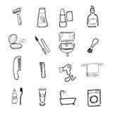 Toilet cosmetic icons set Stock Photo