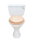 Toilet dat op wit wordt geïsoleerd Stock Afbeelding