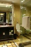Toilet in de ruimte van het luxehotel Stock Foto's