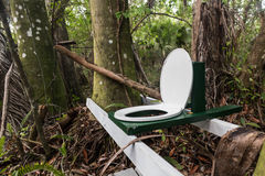 Toilet in de wildernis Stock Fotografie