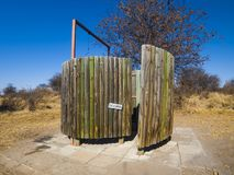 Toilet. Deception Camp, Central Kalahari Game Reserve, Botswana Royalty Free Stock Images