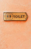 Toilet direction board Stock Photography