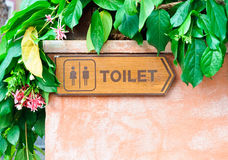 Toilet direction board Royalty Free Stock Photos