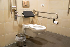 Toilet for disabled people Stock Images