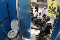 Toilet for disabled people Royalty Free Stock Photos
