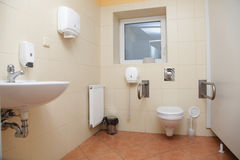Toilet for disabled people Stock Photos