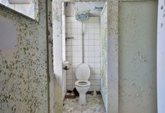 Toilet in a disused factory Royalty Free Stock Photo
