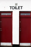 Toilet doors Stock Photos