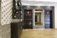 Toilet doors for male and female in modern hotel interior Royalty Free Stock Photography