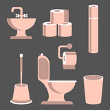 Toilet Elements Set Stock Images