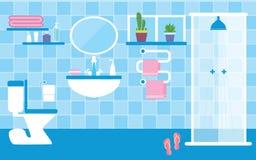 Toilet en badkamers Stock Afbeelding