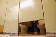 Toilet en toilet Stock Foto
