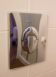 Toilet flush button Royalty Free Stock Photo