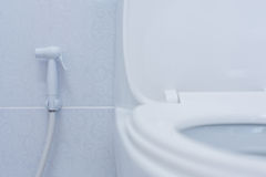 Toilet. Flush cleaning water bathroom Stock Photography