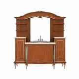 Toilet furniture. Wood toilet furniture on white background Stock Photos