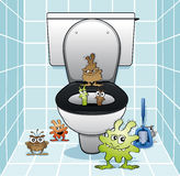 The toilet gang Royalty Free Stock Photo