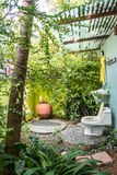 Toilet in the garden Stock Photography