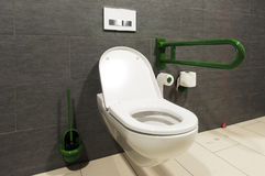 Toilet for handicapped people Royalty Free Stock Photo