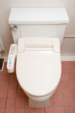 Toilet with heated seat royalty free stock photo