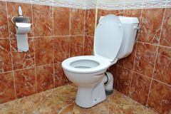 Toilet in a hotel Royalty Free Stock Photography