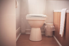 Toilet in hotel room Royalty Free Stock Photography