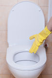 Toilet hygiene concept Stock Photos