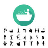 Toilet and hygiene icons Stock Photography
