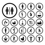 Toilet and hygiene icons Stock Images