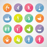 Toilet and hygiene icons Stock Photos