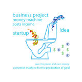 Toilet  icon background  abstract illustration object Royalty Free Stock Photography