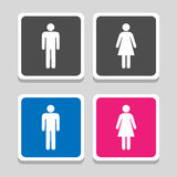Toilet icon great for any use. Vector EPS10. Royalty Free Stock Photos