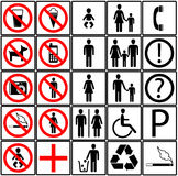 Toilet Icons Royalty Free Stock Image