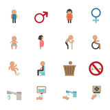 Toilet icons Stock Photography