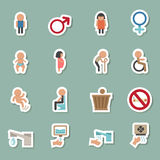 Toilet icons Stock Photo