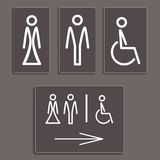Toilet icons, vector illustration. Stock Photography
