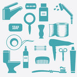 Toilet icons stock illustration