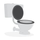 Toilet illustration clipart Royalty Free Stock Photo