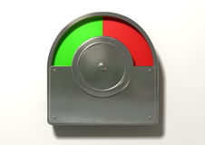 Toilet Indicator Red And Green Split Royalty Free Stock Image