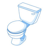 Toilet isolated illustration Royalty Free Stock Image