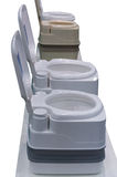 Toilet isolated portable. Toilet isolated composting white mobile portable Royalty Free Stock Images
