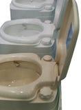 Toilet isolated portable. Toilet isolated composting white mobile portable Royalty Free Stock Photo