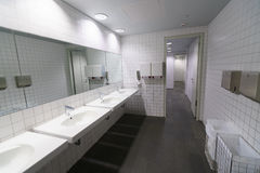 Toilet in luchthaven Royalty-vrije Stock Afbeelding