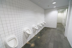 Toilet in luchthaven Royalty-vrije Stock Foto