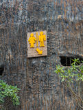 Toilet made from wood. In thailand Royalty Free Stock Images