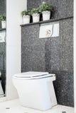 Toilet in marble bathroom Royalty Free Stock Image