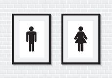 Toilet for men and women sign Royalty Free Stock Photos