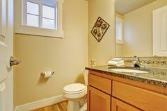 Toilet met het kabinet van de esdoornijdelheid Royalty-vrije Stock Afbeeldingen